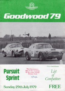 Programme for Goodwood 79 Pursuit Sprint 29th July 1979