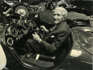 Photograph of AC Bertelli at Morntane Engineering in 1977