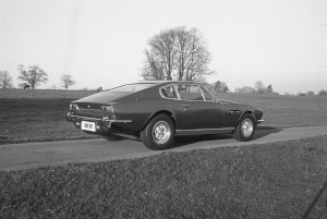 Black and White Negatives. Aston Martin V8 press photography on location at Gayhurst House.1975,22nd November.