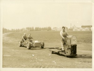 Photograph of vehicle development at Hanworth Airfield, Feltham