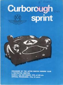 Programme for Curborough Sprint 24th September 1978