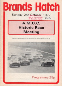 Programme: AMOC Historic Race Meeting, Brands Hatch 2nd October 1977