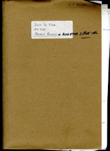AML Project Review Folder - Just In Time (JIT) manufacturing process, 1991