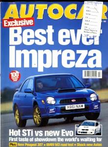 'Autocar' Magazine, 14th February 2001 - 'Giugiaro's Aston'