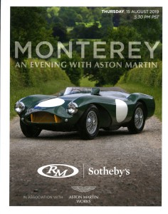 Auction Catalogue for the RM Sotheby's Monterey Sale, Thursday 15th August 2019