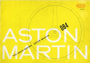 Yellow brochure for Aston Martin DB4