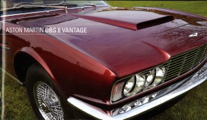 A photo book on a restored Aston Martin DBS 6 cylinder Vantage version, registered as BAB 5.