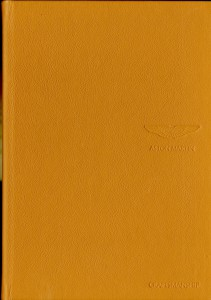 Leather bound brochure 'Craftsmanship' produced for Aston Martin