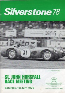 Programme for St John Horsfall Race Meeting, Silverstone 1st July 1978