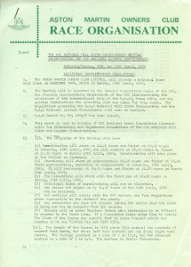 Additional Supplementary Regulations for Wiscombe Park Hill Climb 19th & 20th April 1980