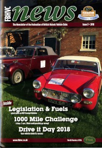 Newsletter of the Federation of British Historic Vehicle Clubs, 2018, Issue 3.