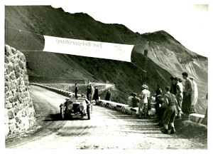 Photograph of an Aston Martin Le Mans 2/4 Seater completing the Alpine trial