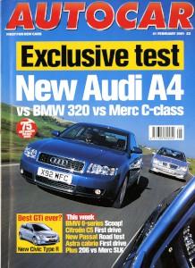 'Autocar' Magazine, 21st February 2001 - 'Quish List'
