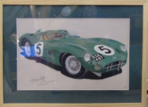 Framed drawing of DBR1/2 by N.M Cunningham
