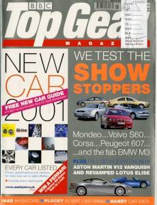 'Top Gear' Magazine, November 2000 - 'First Leer: Aston Martin Vanquish'