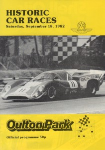 Programme for Historic Car Races on 18th September 1982