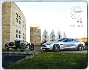 Mouse Mat: Centenary image of A3 and Vanquish outside the Gaydon facilities, 2013.
