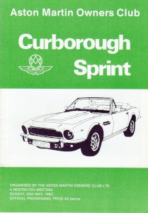 Race Programme for Curborough Sprint on 29th May 1983