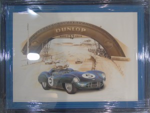 "Framed print of ""Aston Martin DBR1 - 1959"" by François Bruere"