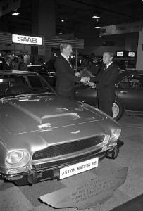 Black and White Negative Strips:Earls Court Motor Show.V8 Saloon.October 15-25,1975. Sheet 11.