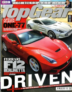 'Top Gear' Magazine, September 2012 - 'Aston Martin One-77: On the run in the car they said we'd never drive'
