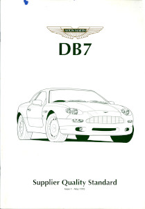 DB7 Supplier Quality Standard assessment form