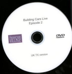 DVD: Episode TWO of the UK television show 'Building Cars Live' with James May, broadcast 20 October 2015.