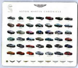 Mouse Mat: Aston Martin Chronicle - Centenary image of all 42 Aston Martin models since 1913