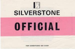 Car Park sticker 'OFFICIAL' for St John Horsfall Race Meeting 6th July 1974