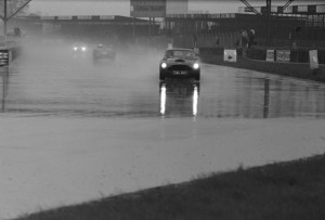 Black and White Negative Strips - Roger Stowers photographs - Silverstone 750 MC 6 Hours, May 17th 1975. Aston Martin and other Historic cars competing on track.