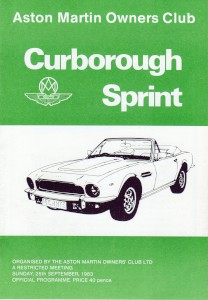 Programme for Curborough Sprint on 25th September 1983