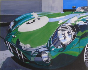 Unframed stretched canvas print of a painting of the front of DBR1/2