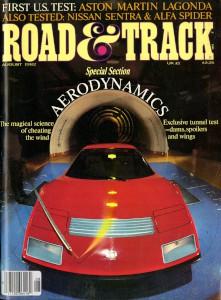 Road and Track Magazine, August 1982 'Aston Martin Lagonda'