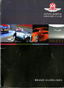 Aston Martin Owners Club, Brand Guidelines document, Version 1. 2011