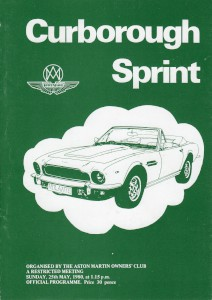 Programme for Curborough Sprint 25 May 1980