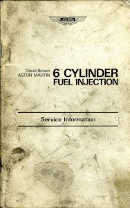 Service Information for the Aston Martin Fuel Injected 6 Cyclinder Engine