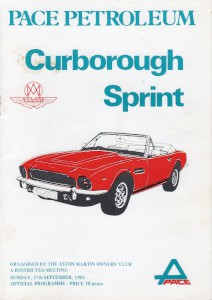 Race Programme for Curborough Sprint on 27th September 1981