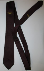 Burgundy Aston Martin Tie with Gold Wings