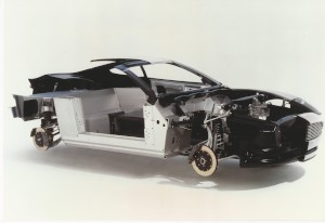 Car: Aston Martin V12 Vanquish cutaway