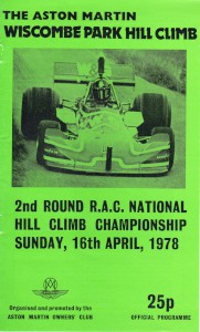 Programme for Wiscombe Park Hill Climb, 15th & 16th April 1978
