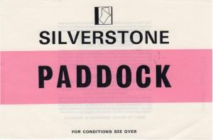 Car Park sticker 'PADDOCK' for St John Horsfall Race Meeting 6th July 1974