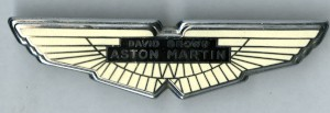 Bonnet badge: David Brown Aston Martin wings badge