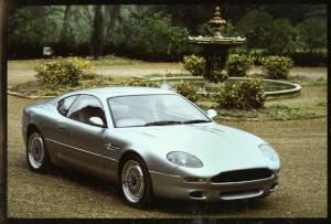 Press Photograph of an Aston Martin DB7 i6 prototype front 3/4