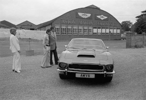 Black and White Negatives.Aston Martin V8 press photography,Weston Underwood /Newport Pagnell.Image of new V8 Lagonda and Project car.1976,5th August.