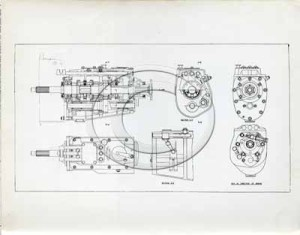 Technical drawing of a part for the DB2.