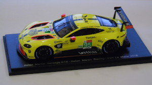 1:43 Scale Model of an Aston Martin AMR Vantage GTE from the Le Mans 24 hour, 2018