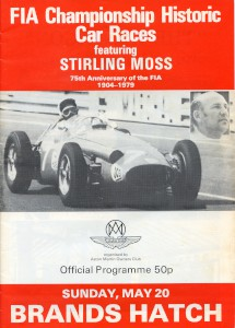 Programme: FIA Championship Historic Car Races, Brands Hatch 20th May 1979