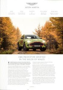 'AM People' Aston Martin internal Magazine. Num.81 Oct/Nov 2018