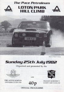 Programme for the Loton Park Hill Climb on 25th July 1982