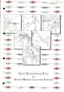 Aston Martin Lagonda Staff development Plan Booklet